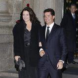 Alexia de Grecia y Carlos Morales en el funeral del Infante Carlos