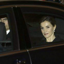 La Reina Letizia en el funeral del Infante Carlos