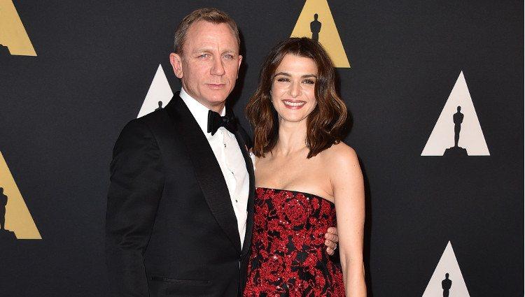 Daniel Craig y Rachel Weisz en los Governors Awards 2015