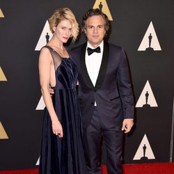 Sunrise Coigney y Mark Ruffalo en los Governors Awards 2015
