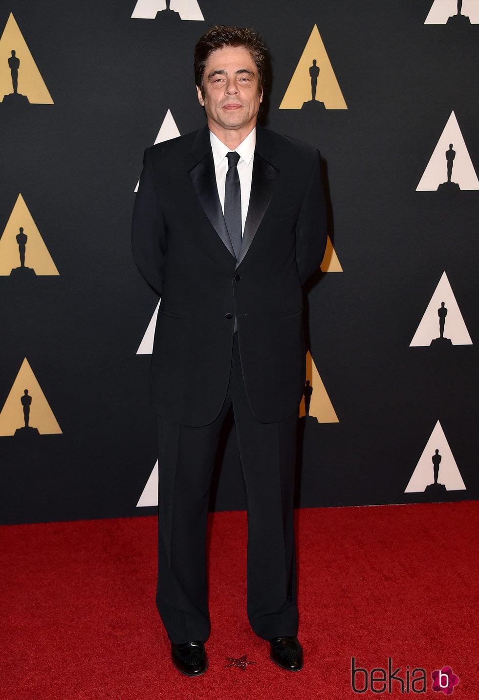 Benicio del Toro en los Governors Awards 2015