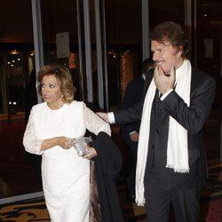 María Teresa Campos y Bigote Arrocet en la entrega de las Antenas de Oro 2015