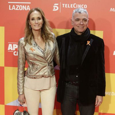 Sandra Ibarra y Juan Ramón Lucas en la premiere en Madrid de 'Ocho Apellidos Catalanes'