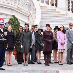 La Familia Real de Mónaco en el Día Nacional de Mónaco 2015