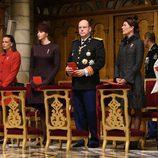 Alberto y Charlene de Mónaco con las Princesas Carolina y Estefanía en el Día Nacional de Mónaco 2015