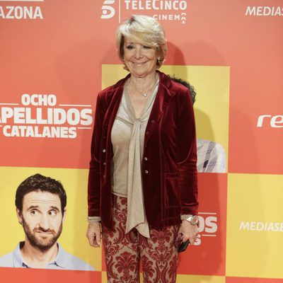 Esperanza Aguirre en la premiere en Madrid de 'Ocho Apellidos Catalanes'