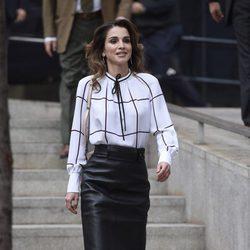 Rania de Jordania visita el centro Mediolab-prado en Madrid