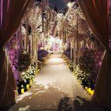 El espectacular pasillo floral de la boda de Sofía Vergara y Joe Manganiello