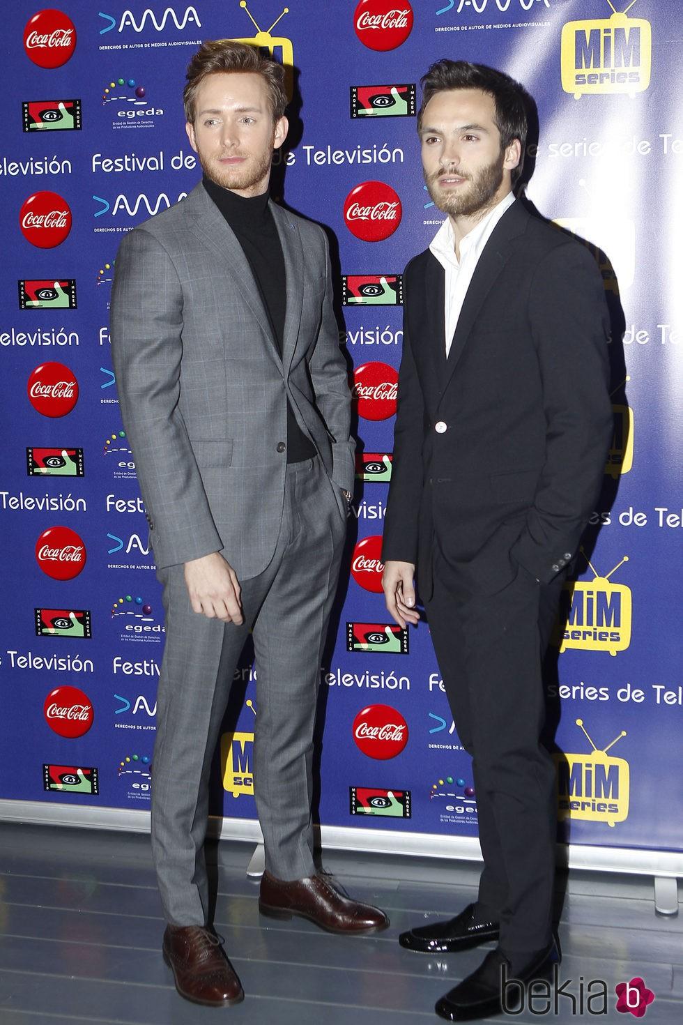 Pablo Rivero y Ricardo Gómez en el preestreno de 'Cuéntame cómo pasó' en el Festival Mim Series 2015