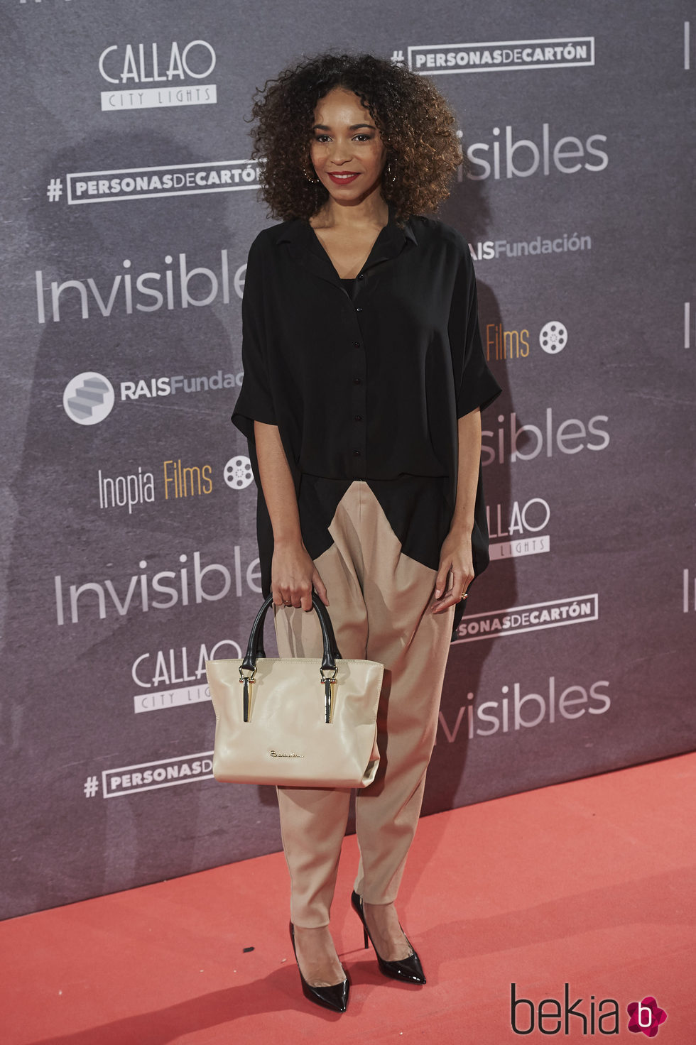 Montse Pla en el estreno de 'Invisibles' en Madrid