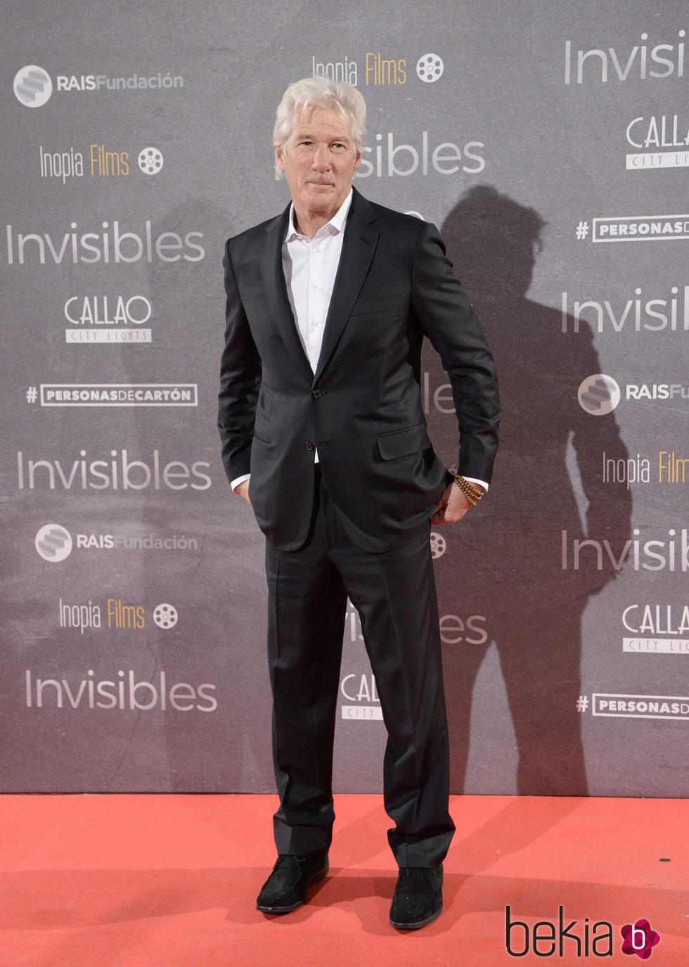 Richard Gere en el estreno de 'Invisibles' en Madrid