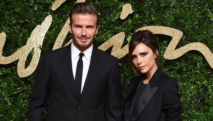David Beckham y Victoria Beckham en los British Fashion Awards 2015