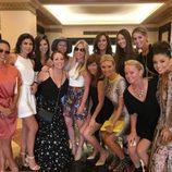Eva Longoria con sus amigas