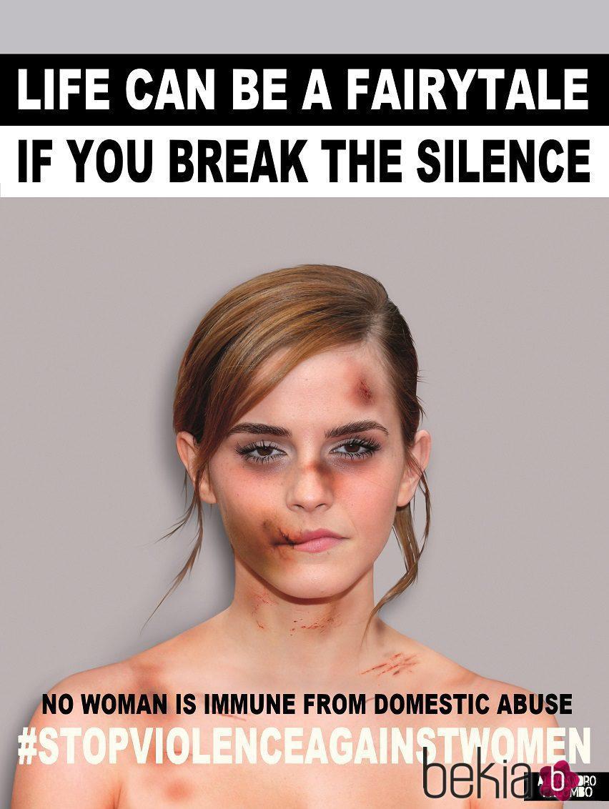 Emma Watson imagen de la campaña #Breakthesilence 2015