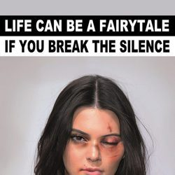 Kendall Jenner imagen de la campaña #Breakthesilence 2015