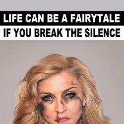 Madonna imagen de la campaña #Breakthesilence 2015