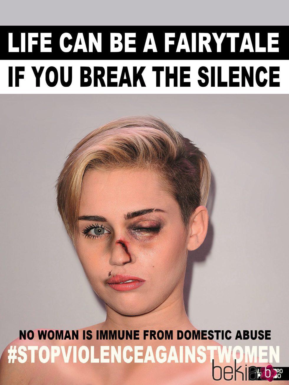 Miley Cyrus imagen de la campaña #Breakthesilence 2015