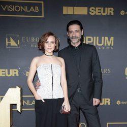 Aura Garrido y Nacho Fresnada en los premios Ondas 2015