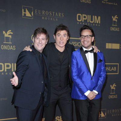 Carlos Latre, Manel Fuentes y Àngel Llàcer en los premios Ondas 2015