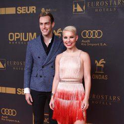 Soraya Arnelas y Miguel Ángel Herrera en los premios Ondas 2015