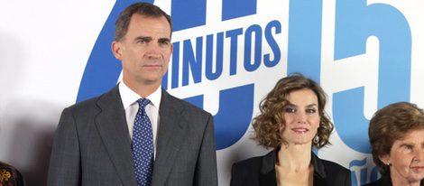 Los Reyes Felipe y Letizia en el 15 aniversario de 20 MInutos