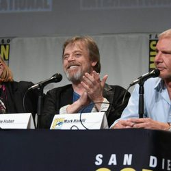 Carrie Fisher, Mark Hamill y Harrison Ford en la Comic-Con 2015
