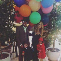 Mariah Carey y su ex, Nick Cannon, junto a sus hijos en Acción de Gracias 2015