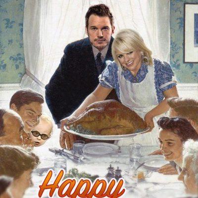 Chris Pratt y Anna Faris felicitan Acción de Gracias 2015