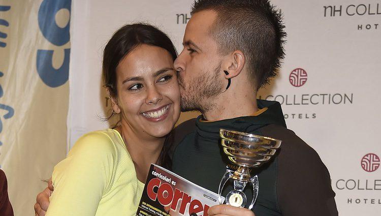 Cristina Pedroche y David Muñoz en la carrera vertical del NH Eurobuilding de Madrid