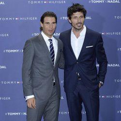 Rafa Nadal y Andrés Velencoso en el partido de tenis de Tommy Hilfiger