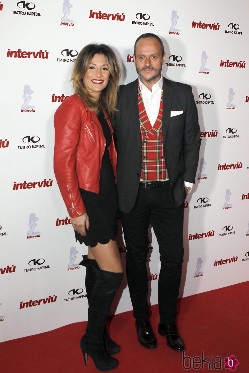 Nacho Montes y Nagore Robles en la gala Chica Interviú 2015