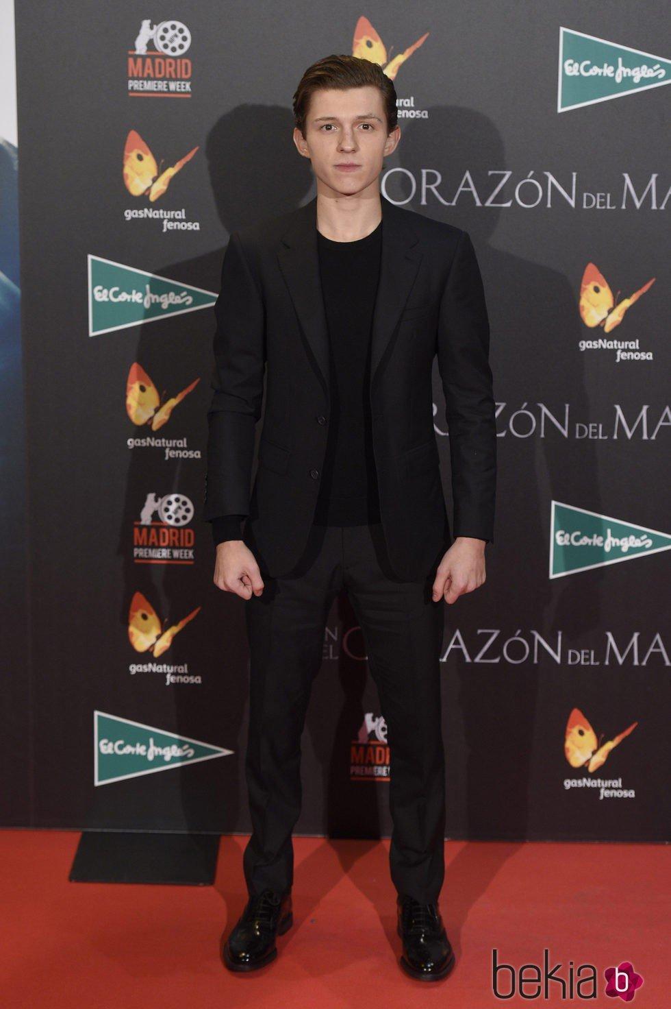 Tom Holland en el estreno de 'En el corazón del mar' en Madrid