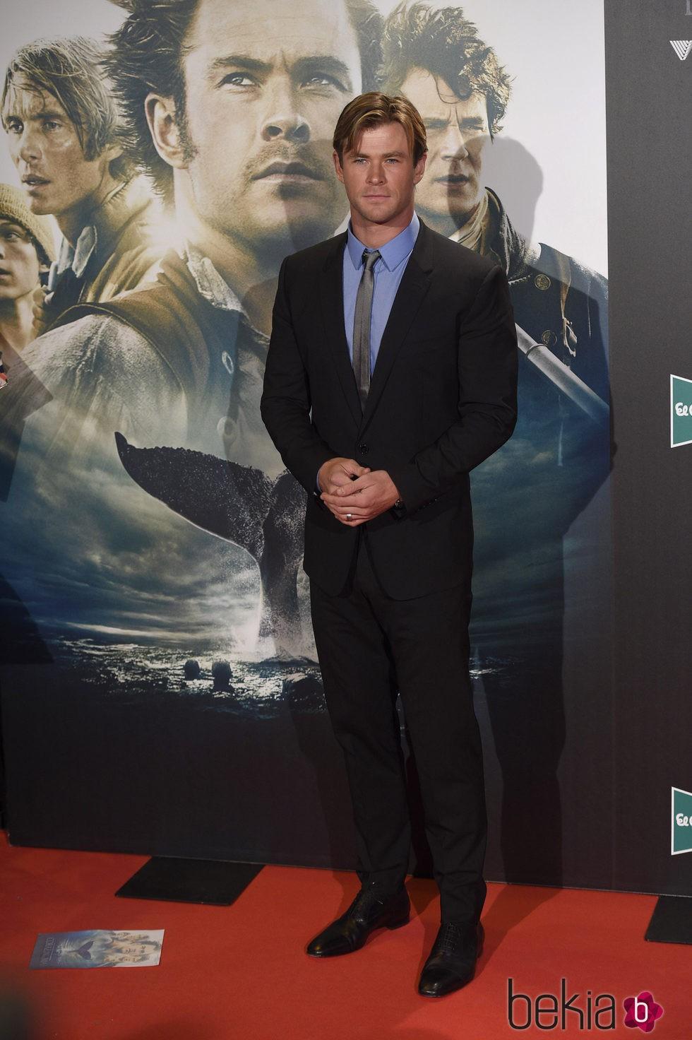 Chris Hemsworth en el estreno de 'En el corazón del mar' en Madrid
