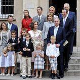 La Familia Real en la Comunión de Juan y Pablo Urdangarín
