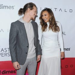 Naya Rivera y Ryan Dorsey en la celebración de March of Dimes