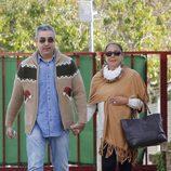 Isabel Pantoja saliendo de Alcalá de Guadaíra en su cuarto permiso penitenciario