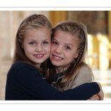 La Princesa Leonor y la Infanta Sofía felicitan la Navidad 2015