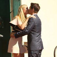 Rob Lowe se besa con Gwyneth Paltrow en el Paseo de la Fama de Hollywood