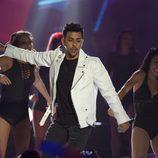 Dasoul durante su actuación en los Premios 40 Principales