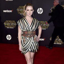 Billie Lourd en la premiere de 'Star Wars: El Despertar de la Fuerza' en Los Ángeles