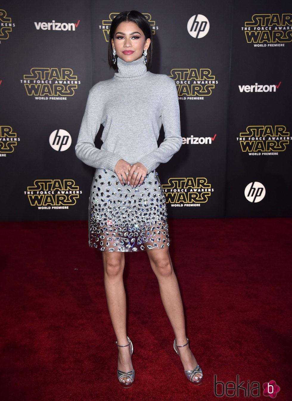 Zendaya en la premiere de 'Star Wars: El Despertar de la Fuerza' en Los Ángeles