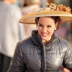 Silvia Marsó en el rodaje de la tercera temporada de 'Velvet'