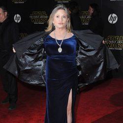 Carrie Fisher en la premiere de 'Star Wars: El Despertar de la Fuerza' en Los Ángeles