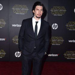 Adam Driver en la premiere de 'Star Wars: El Despertar de la Fuerza' en Los Ángeles