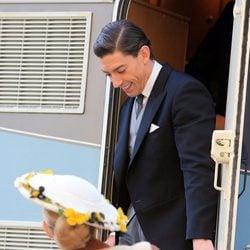 Adrián Lastra en el rodaje de la tercera temporada de 'Velvet'
