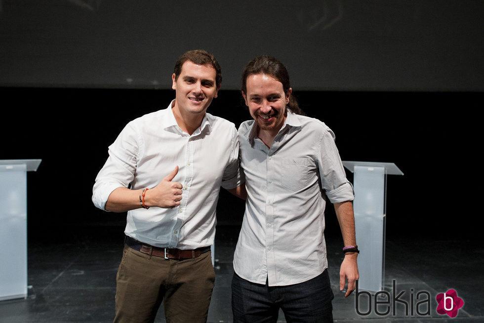 Albert Rivera y Pablo Iglesias en un debate en la Universidad Carlos III de Madrid