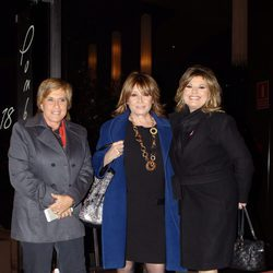 Chelo García-Cortés, Mila Ximénez y Terelu Campos en la cena de Navidad de 'Sálvame'