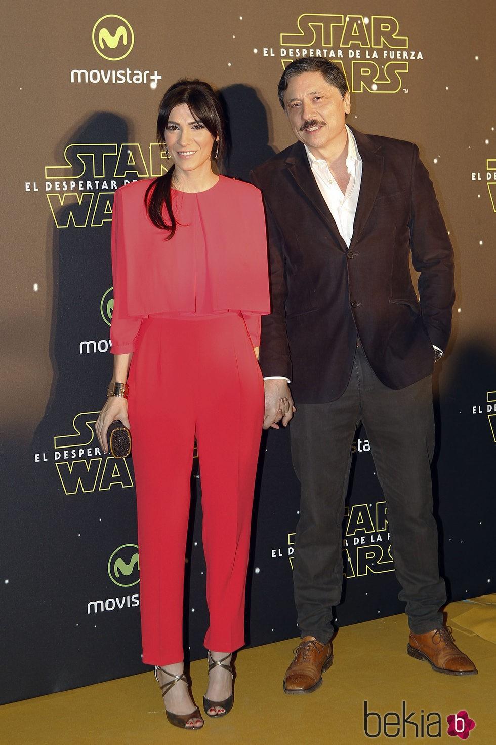 Carlos Bardem y Cecilia Gessa en el estreno de 'Star Wars: El Despertar de la Fuerza' en Madrid