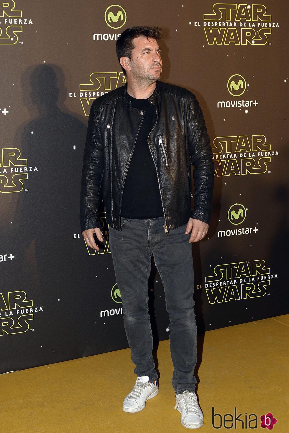 Arturo Valls en el estreno de 'Star Wars: El Despertar de la Fuerza' en Madrid