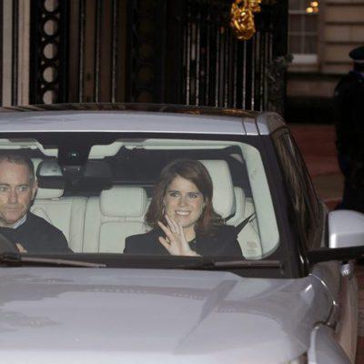 La Princesa Eugenia de York en el almuerzo en Buckingham Palace por la Navidad 2015